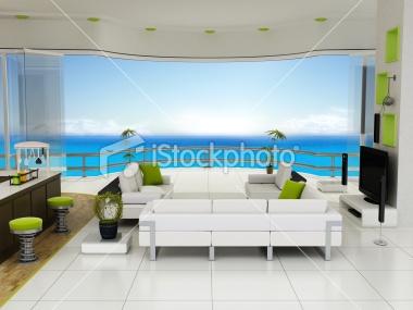 Villa interior design Royalty Free Stock Photo