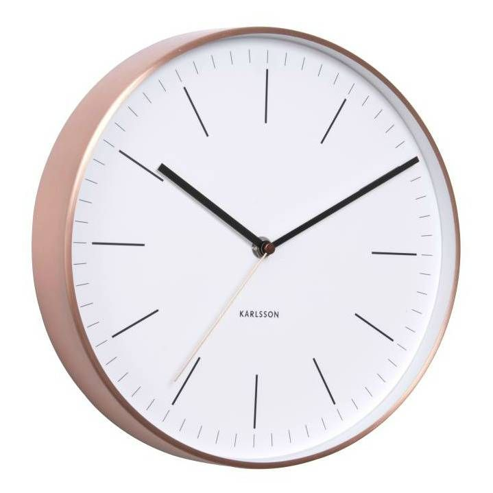 Captivating The Minimal Wall Clock Is Simple Yet Stunning And Looks Great In Kitchens,  Bedrooms Or Living Rooms. Steel Face With Copper Trim. Ideas