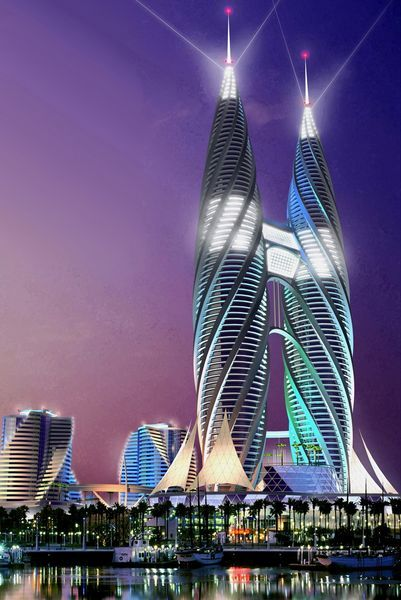 Концептуальный небоскреб архитектора Андрея Коротича