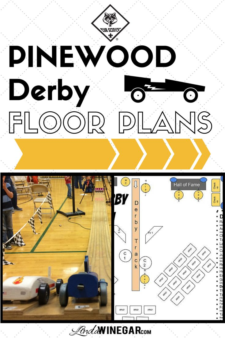 Free CubScout Pinewood Derby Floor Plans PDF Download | #CubMasters #DenLeaders…