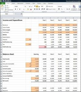 Financial Projections Template - Double Entry Bookkeeping