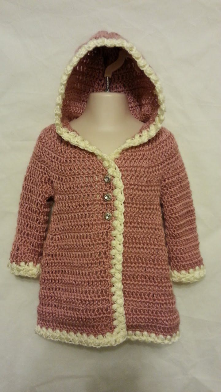 #Crochet Baby Coat Jacket #TUTORIAL