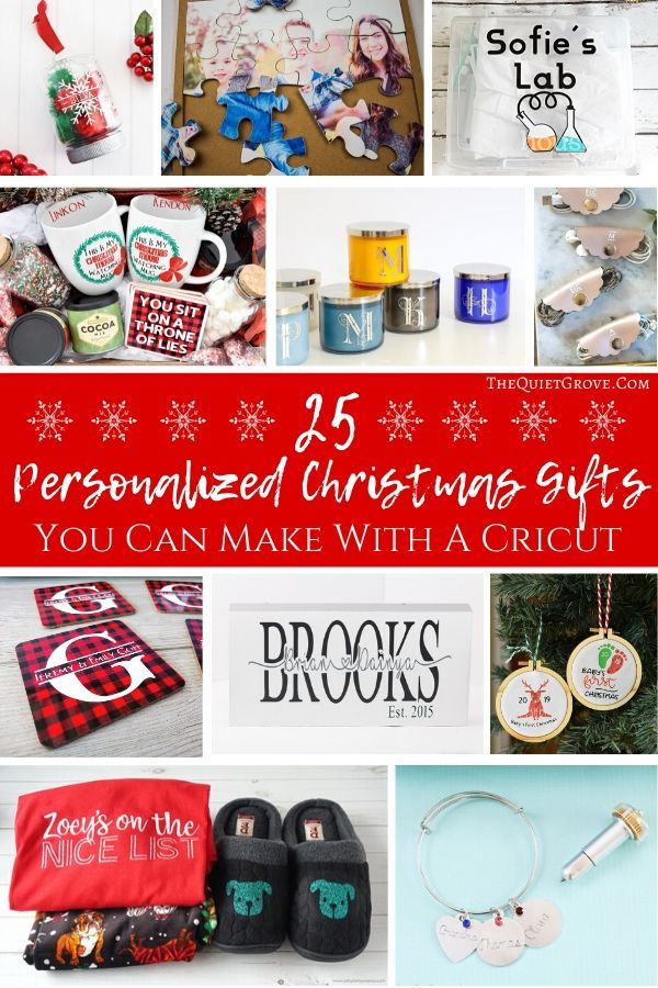 25 Personalized Christmas Gifts You Can Make With A Cricut Christmas Gift You Can Make Personalized Christmas Personalized Christmas Gifts