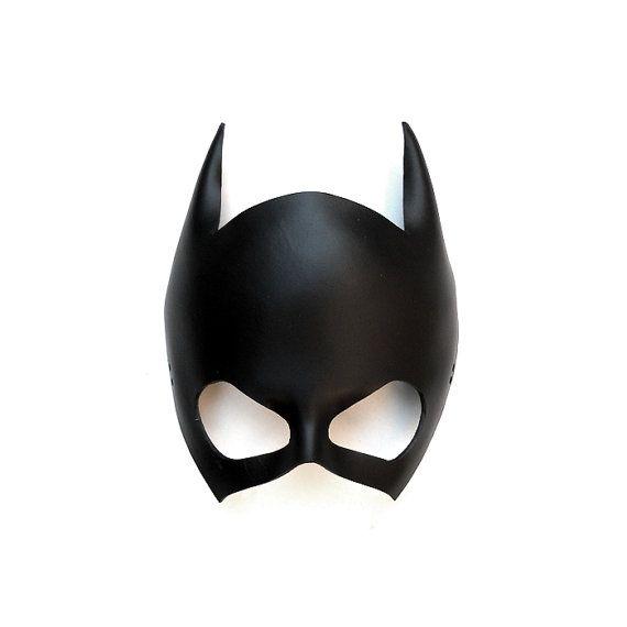 Leather Mask Batgirl Batwoman Catwoman Black Super Hero Gift Sexy Masquerade Cosplay Carnival Halloween Mardi Gras Batman Costume Party on Etsy, $37.00