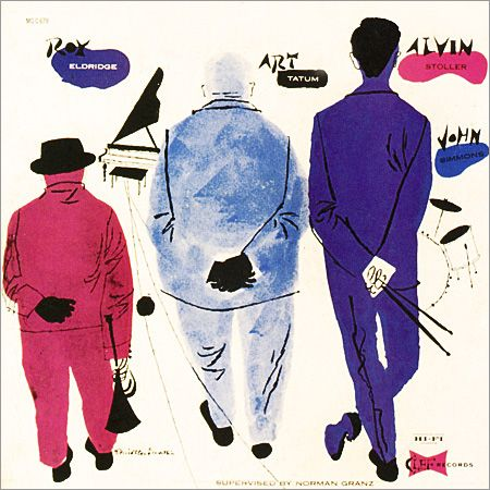 Roy Eldridge and Art Tatum, Clef 679, David Stone Martin