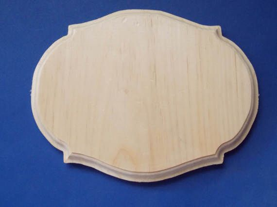 Oval Fancy Unfinished Wood Plaque by MumkenzGiftShop on Etsy