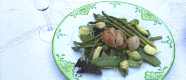 Lauwwarme salade met coquilles ♥ Foodness - good food, top products, great health