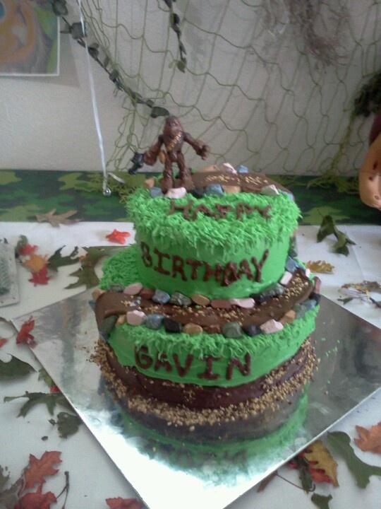 Big Foot Cake Cake Ideas In 2019 Bigfoot Birthday