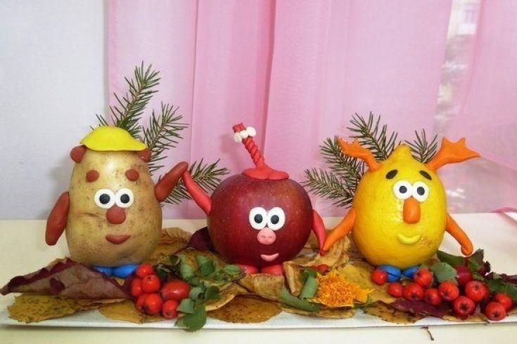 Детско-родительская выставка поделок из овощей  и природного материала  «Осенние  фантазии» прошла в МДОУ Детский сад с.Казаново