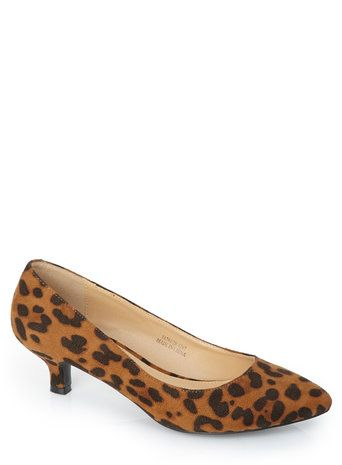 Unleash your inner animal with these animal print kitten heels from BHS!