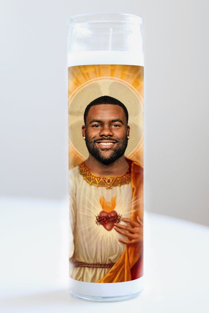 "Saint Mark Ingram featured on Illuminidol's 8"" prayer candle. The most divine way to bless any Mark Ingram disciple!  Texas Made 8"" in height Unscented Ships anywhere in the US via Priority Mail International Shipping? Contact info@illuminidol.com Custom and Wholesale options  #markingram #football #espn #sports #nfl #new #neworleans #louisiana #saints #nola #alabama #popular #famous #celebrities #pray #candles #art #memes #party #lol #funny #humor #decor #gift #shopping #design #texas…"