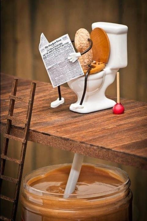 the making of peanut butter!