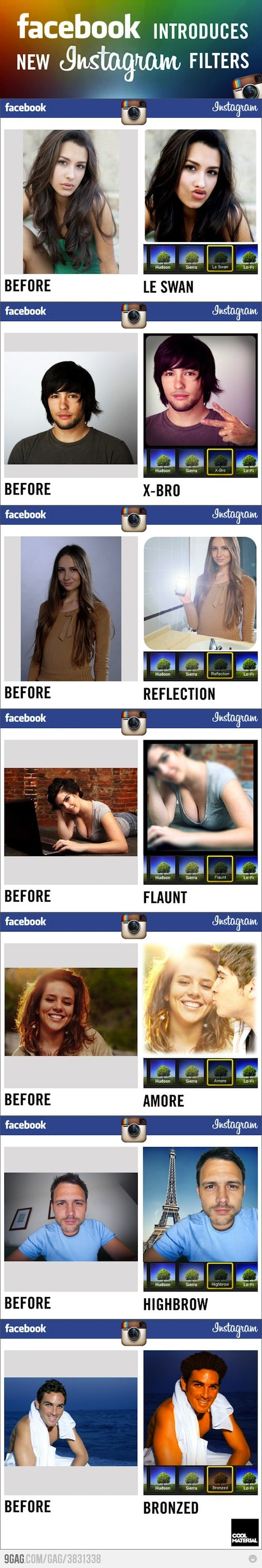 New instagram filters by Facebook