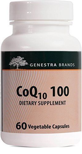 Complementary to our antioxidant formulas and naturally sourced from Japan, the CoQ10 30 formula provides coenzyme Q10, an antioxidant required by tissues and organs to maintain and support cardiovascular health. Helps reduce the frequency of migraine headaches and associated nausea and... more details at http://supplements.occupationalhealthandsafetyprofessionals.com/supplements-2/antioxidants/coq10/product-review-for-genestra-brands-coq10-100-coenzyme-q10-supplement-60-vege