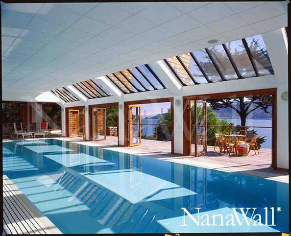 Pool house in San Francisco with NanaWall bifold patio doors. & 17 Best images about NanaWall Systems on Pinterest | Architecture ... Pezcame.Com