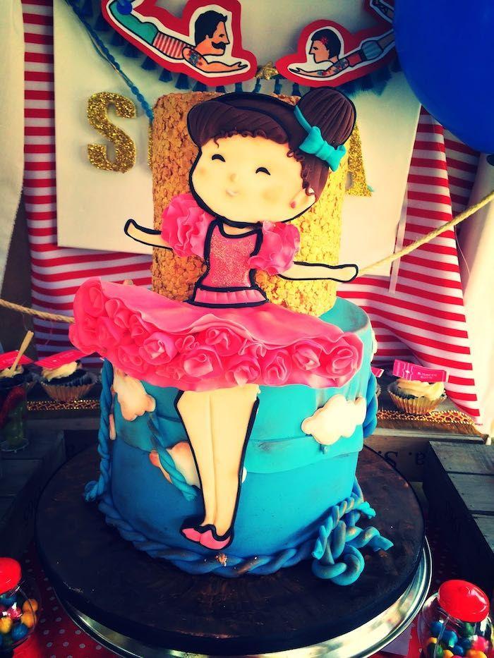 Cake from a Vintage Circus Birthday Party via Kara's Party Ideas | KarasPartyIdeas.com (17)