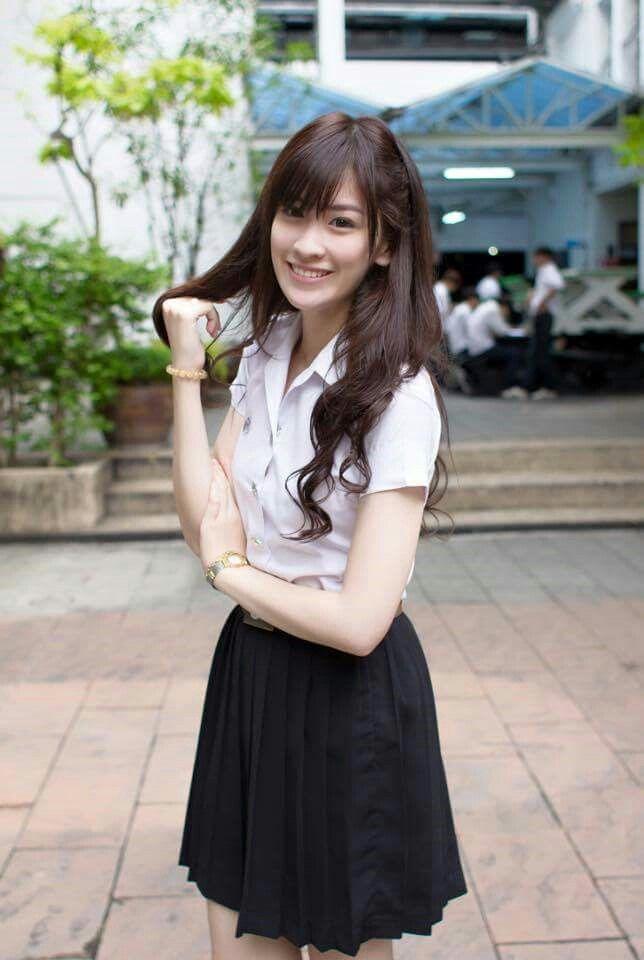 thailand student uniform cute girl ig hanniiez