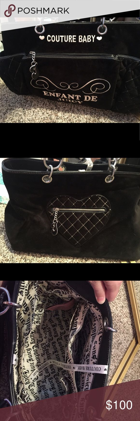 Juicy Couture Diaper Bag Excellent Condition, only used a handful of times. Bought in Las Vegas at Juicy Couture store for $450. Juicy Couture Bags Baby Bags