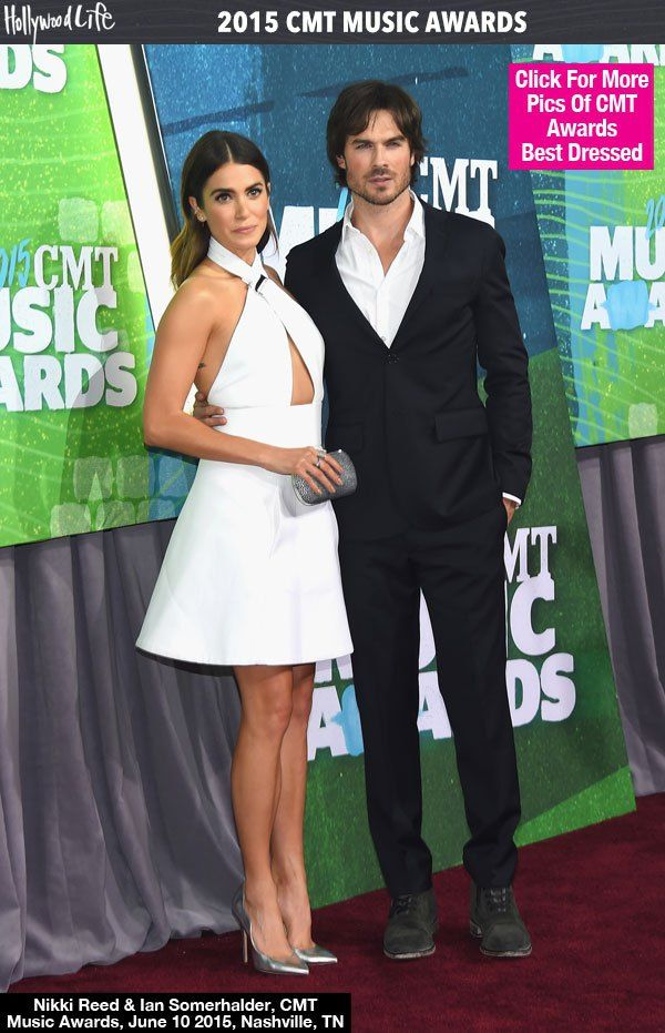 Ian Somerhalder & Nikki Reed Stun At 2015 CMT Music Awards