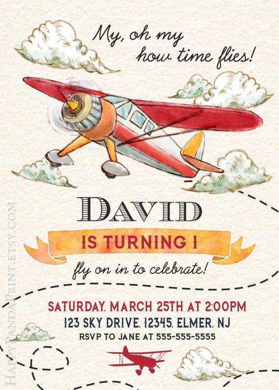 airplane invitation retro airplane birthday invitation airplane