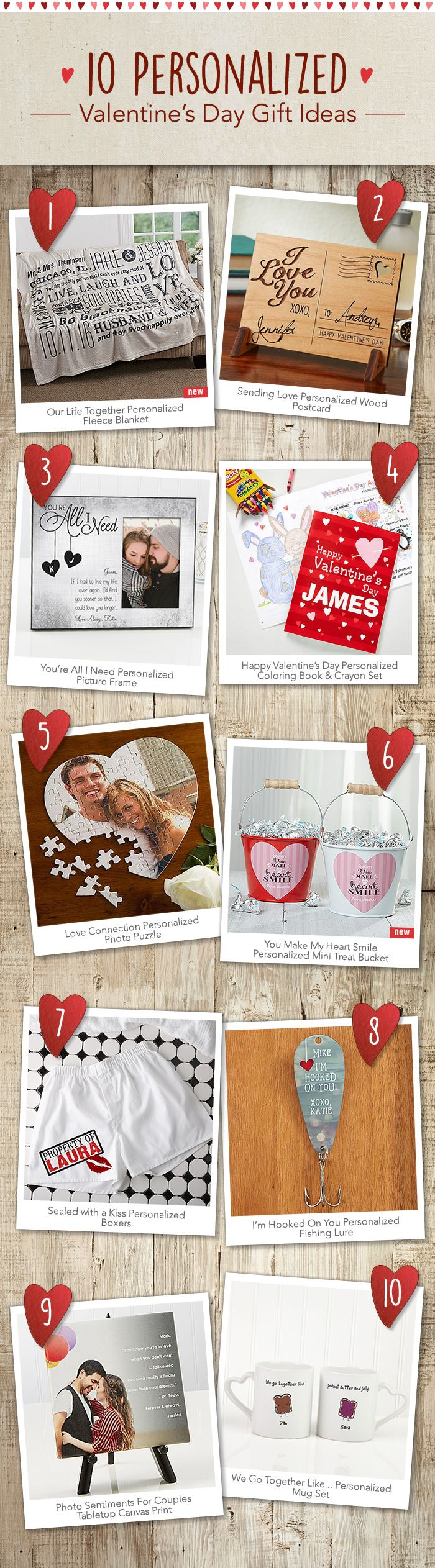 LOVE these Personalized Valentine's Day Gift Ideas! They're so unique and are sure to make a lasting impression!