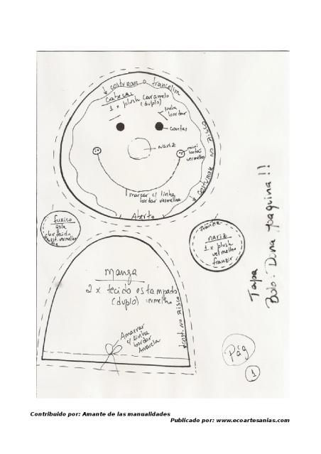 Mejores 28 imágenes de galleta de jengibre en Pinterest   Fieltro ...