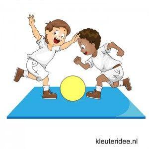 Gymles voor kleuters, eenvoudige judoles 3, kleuteridee.nl