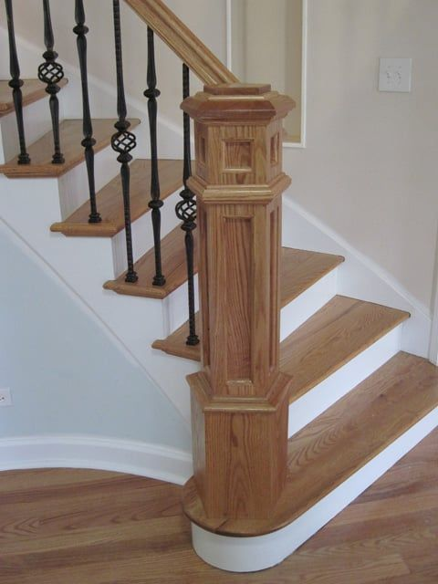Staircase Newel Posts   Custom Stair Construction With Pentagon Newel Post  By Splash Carpentry .