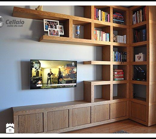 Biblioteczka i ścianka telewizyjna a`la Cellaio - zdjęcie od Cellaio - dla moli.