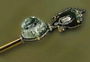 Diamante Orlov.Engarzado en el Cetro Real de la Zarina Catalina la Grande