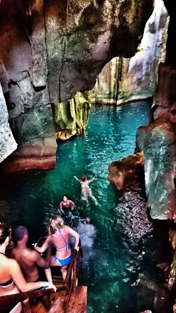 Sawa-i-Lau Caves, Western, Fiji - You can swim into these beautiful...