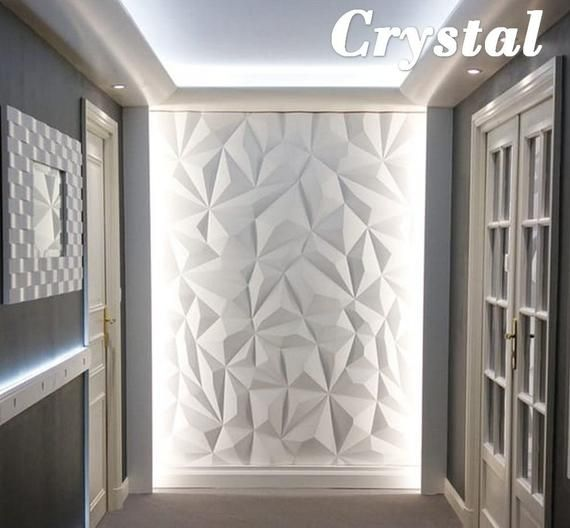 3d Form Of The Abs Plastic Wall Panels Is 2 Mm Thick And The Size Of 50 50 Cm Decorative Wall For Decorative Wall Panels Textured Wall Panels 3d Wall Panels