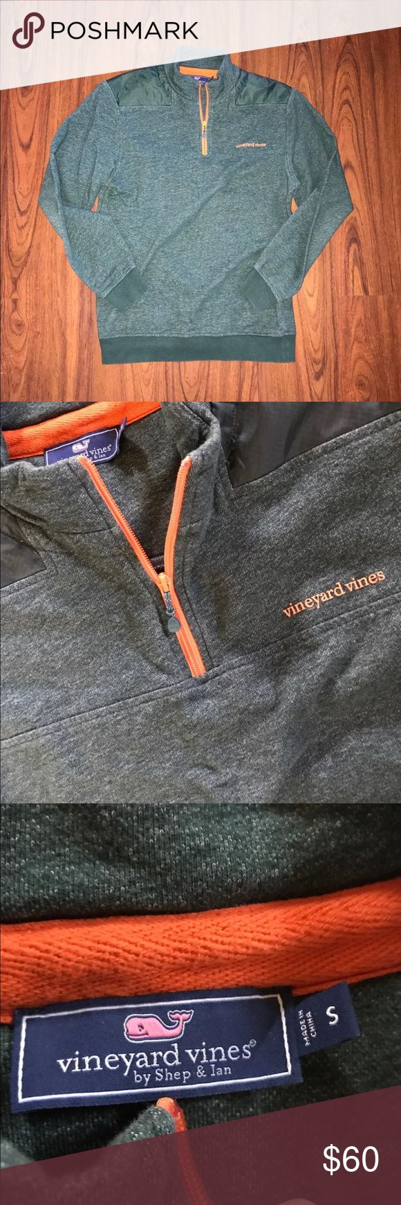 Green Orange Small Apartment Living Room Decor: Vineyard Vines Shep Shirt Size Small Hunter Green And