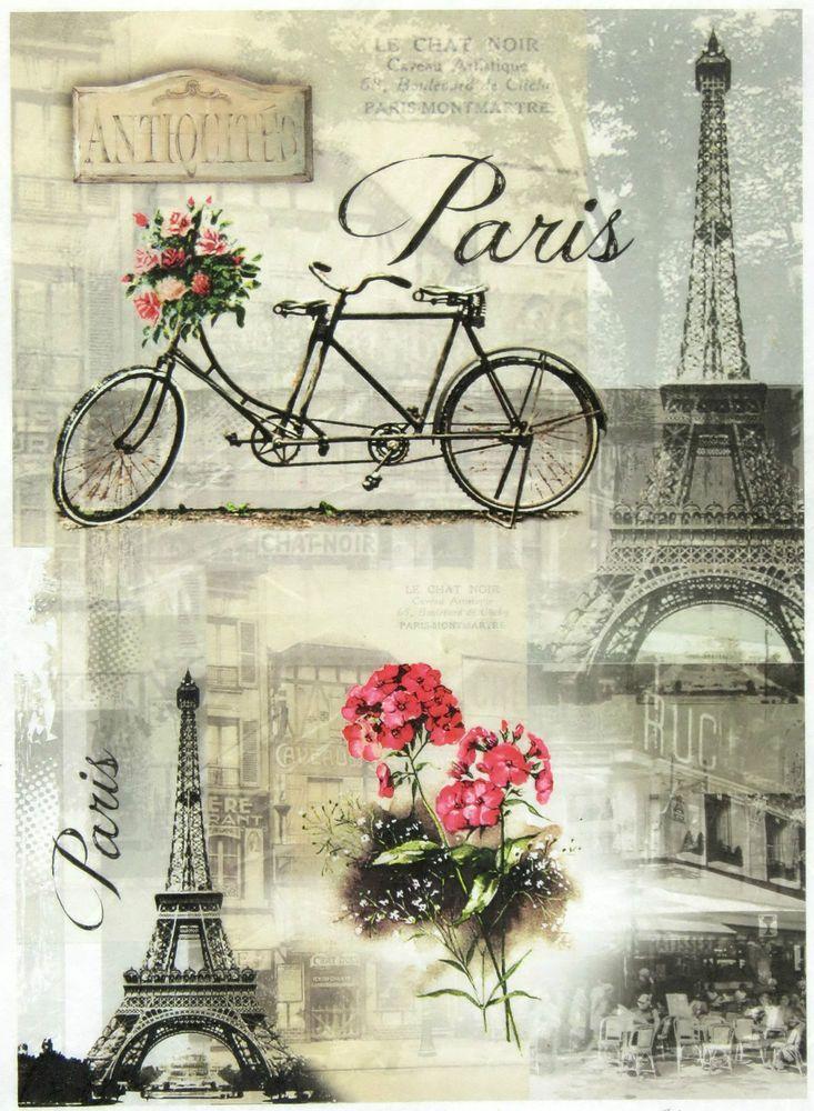 Ricepaper/Decoupage paper,Scrapbooking Sheets /Craft Paper Parisian Still Life