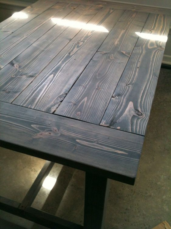 Make It A Farmhouse Table Grey Stained Wood Diy Wood
