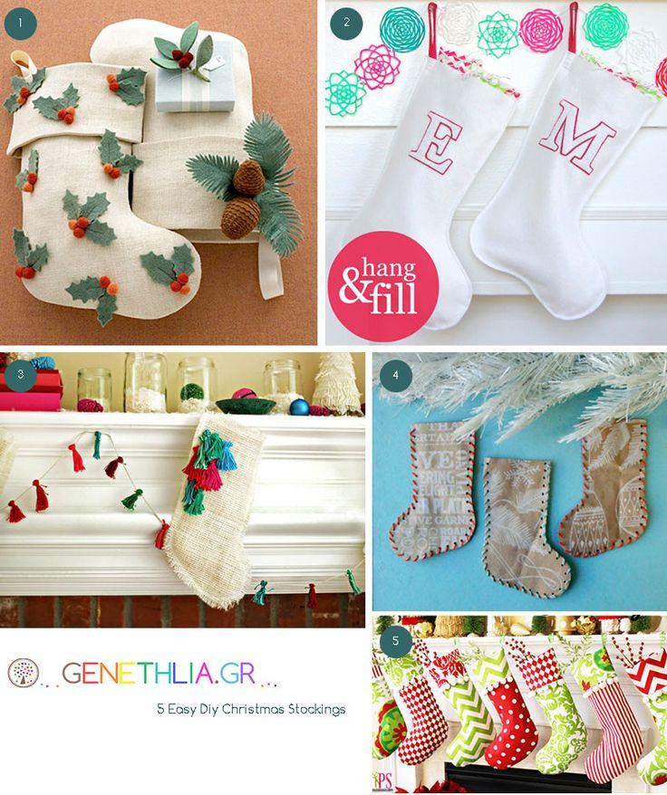 Easy Diy Christmas Stockings!