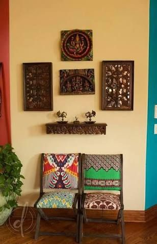 Wall Decoration with Dupatta