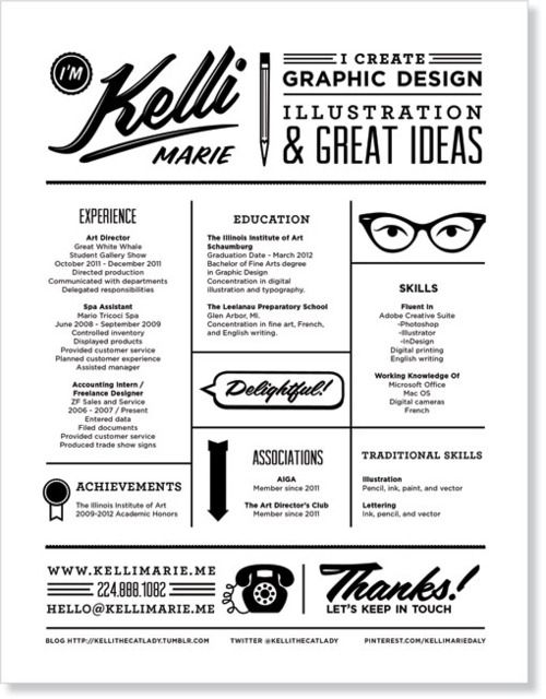 This is the kind of graphic designer you hire {Resume by Kelli Marie}