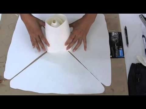 Hướng dẫn làm hoa hồng trang trí backdrop tiệc cưới sinh nhật(How to make paper ROSE) - YouTube