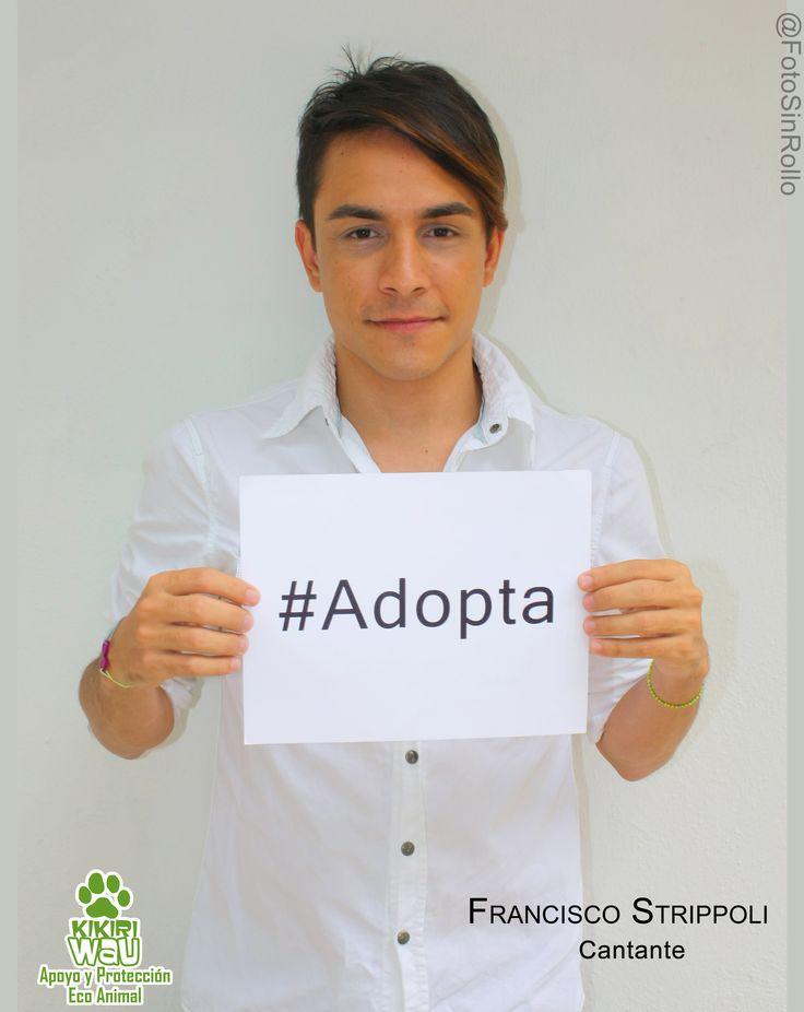 Francisco Strippoli, cantante en apoyo a la Adopción
