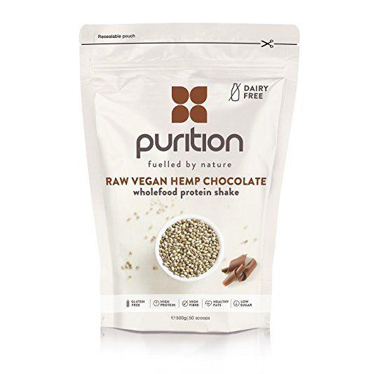 Purition frullato al cioccolato (vegano) - Integratore proteico per una sana perdita di peso e definizione muscolare - 100% ingredienti naturali e senza glutine (500 grammi)