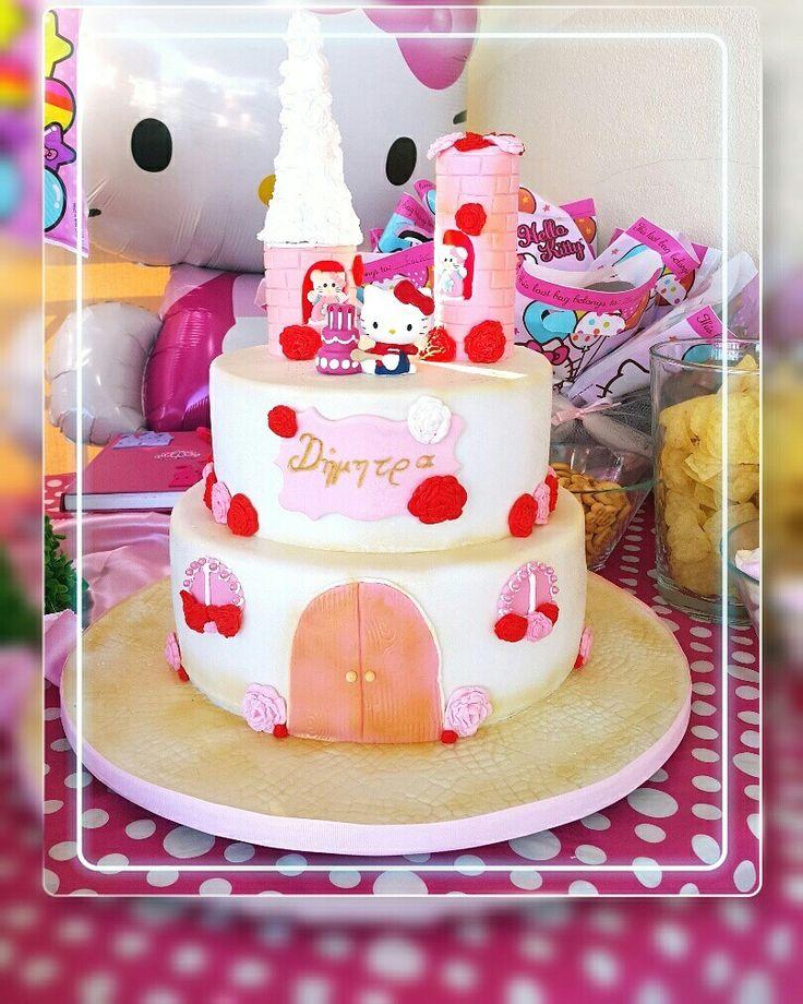 Hello Kitty Fondant cake  Custom Homemade Cakes By Handy Nancy