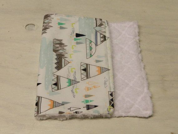 Tribal Print Burp Cloth - TeePee Print . Every baby could use more burp cloths! #ETSY #SweetBundle