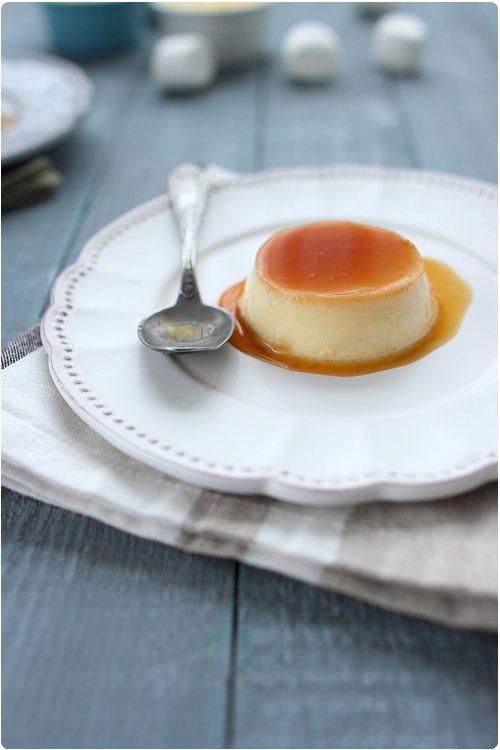 Crème caramel renversée
