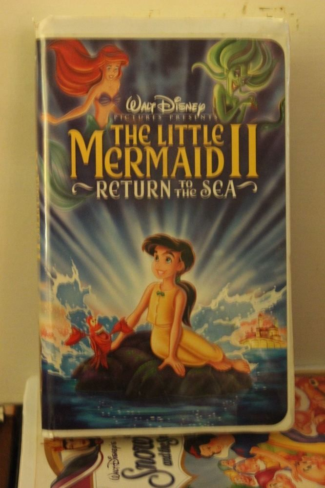 Walt Disney The Little Mermaid II Return to the Sea VHS Movie Clamshell Case