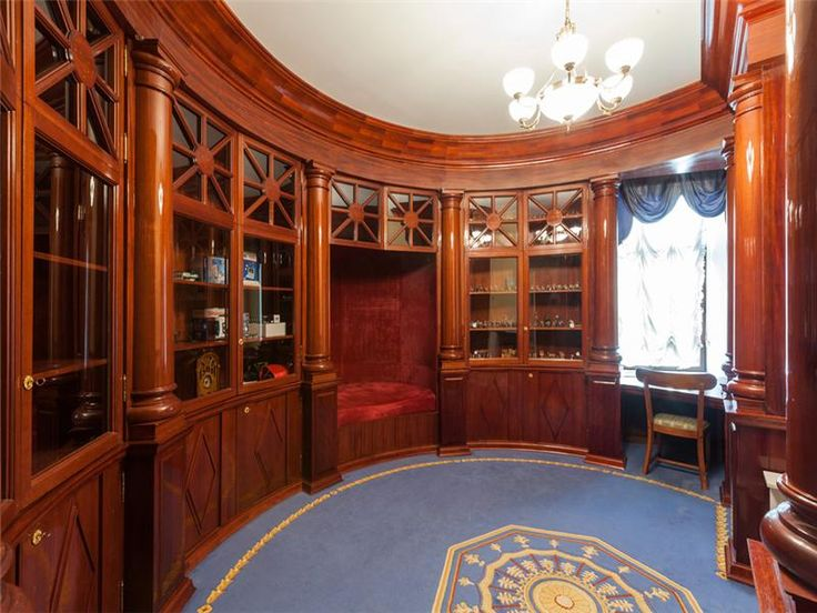 Victorian Style Office Victorian Gothic inter...