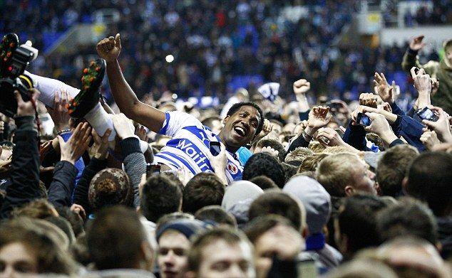 Reading FC celebrate promotion
