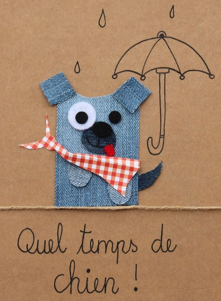 Quel temps de chien! #jeans #recycle http://pinterest.com/fleurysylvie/mes-creas-la-collec/ et www.toutpetitrien.ch