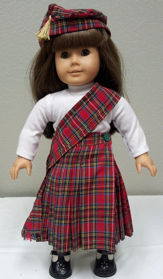 American Girl Doll Red Kilt Outfit only by ...