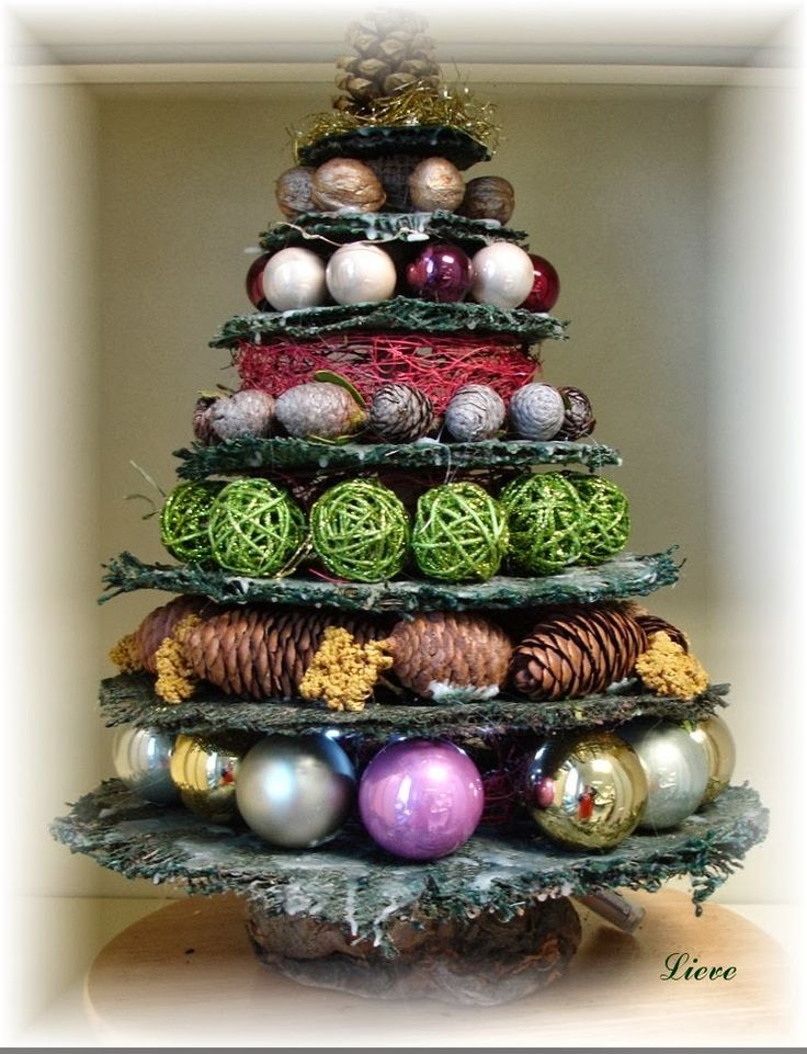 """Rozen - Kant en Lavendel: Les"""" Florale kunst"""" een alternatieve kerstboom..."""
